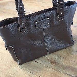 Kate spade chocolate brown leather bag